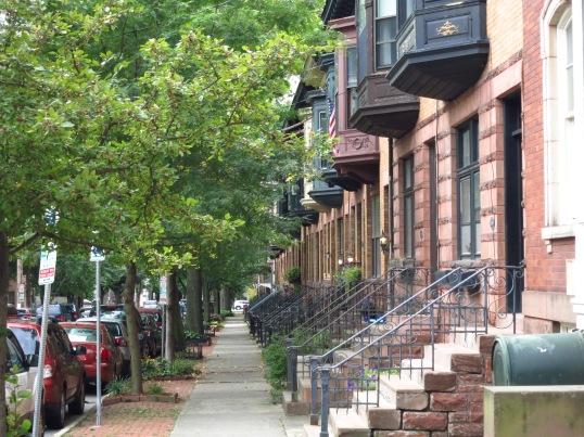 Walk-ups along State Street, Albany New York
